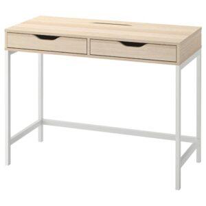 АЛЕКС Письменный стол, белая морилка/под дуб 100x48 см - 704.735.57