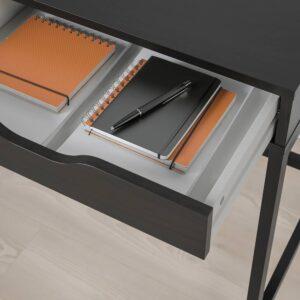 АЛЕКС Письменный стол, черно-коричневый 132x58 см - 204.834.41