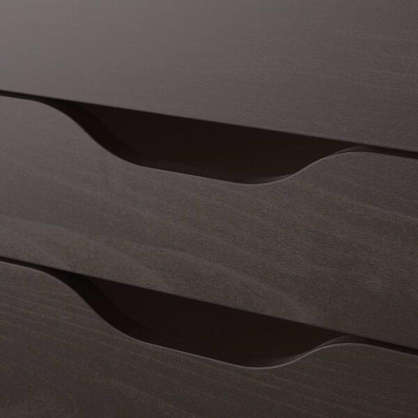 АЛЕКС Тумба с ящиками на колесах, черно-коричневый 67x66 см - 104.735.41