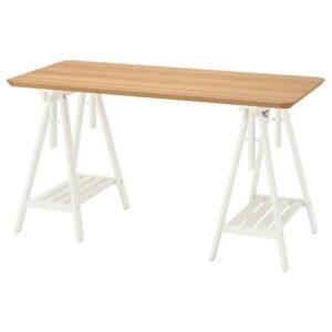 АНФАЛЛАРЕ / МИТТБАКК Письменный стол, бамбук белый 140x65 см - 494.177.33