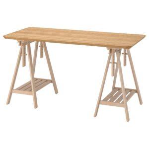 АНФАЛЛАРЕ / МИТТБАКК Письменный стол, бамбук/береза 140x65 см - 294.177.29