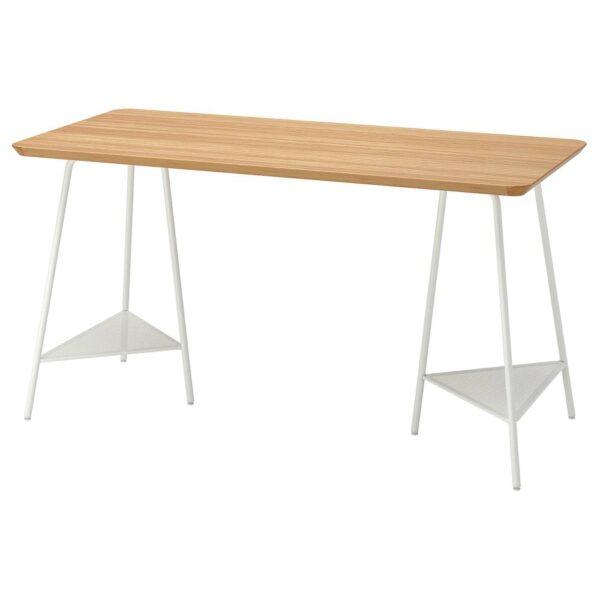 АНФАЛЛАРЕ / ТИЛЛЬСЛАГ Письменный стол, бамбук/белый 140x65 см - 794.177.41