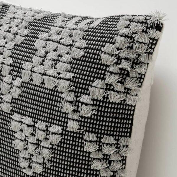 АННАМЭТТЕ Чехол на подушку, серый/черный 50x50 см - 204.990.17