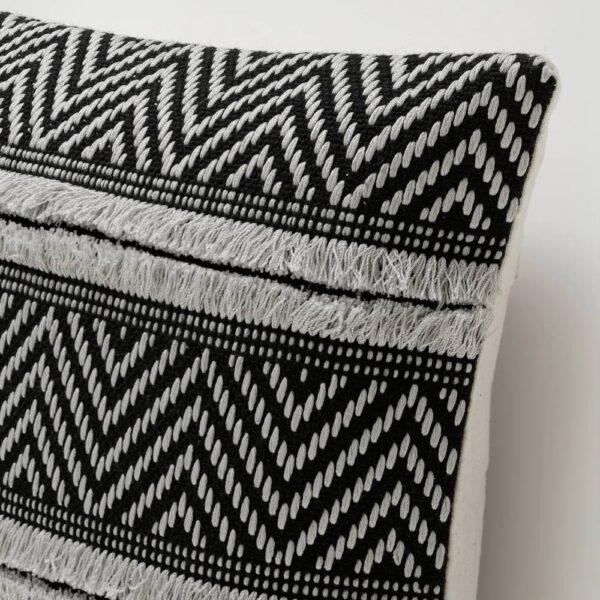 АСКБРУНМАЛ Чехол на подушку, серый/черный 50x50 см - 004.990.18