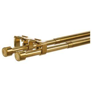 БЕКРЭФТА Двойной гардинный карниз, желтая медь 120-210 см 19 мм - 704.897.04