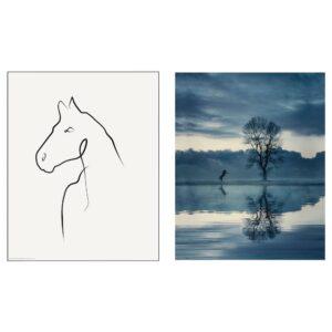 БИЛЬД Постер, Рисунок лошади 40x50 см - 504.955.79