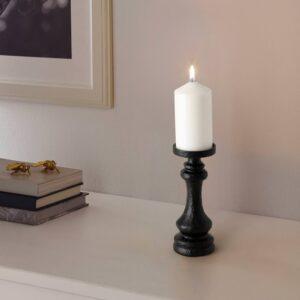 ЭФТЕРСКЁРД Подсвечник д/свечи/форм свечи, черный 20 см - 905.035.39
