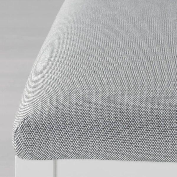ЭКЕДАЛЕН Стул барный, белый/Оррста светло-серый 75 см - 304.005.44