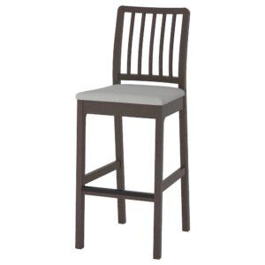 ЭКЕДАЛЕН Стул барный, темно-коричневый/Оррста светло-серый 75 см - 704.005.37