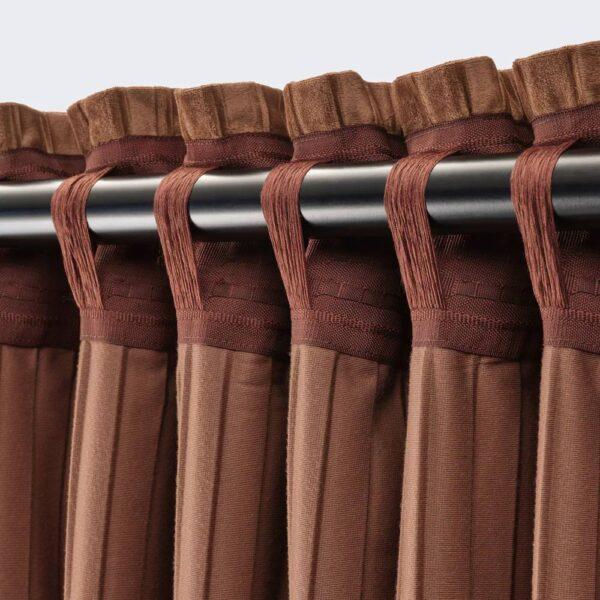 ЭЛЬДТОРН Затемняющие гардины, 2 шт., коричневый 145x300 см - 004.881.09