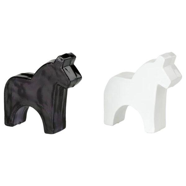 ЭРФОРДРА Украшение, лошадь, белый/черный 6 см - 905.019.36