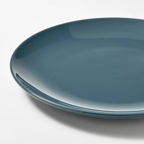 ФЭРГКЛАР Тарелка, полированный темная бирюза 26 см - 204.771.57