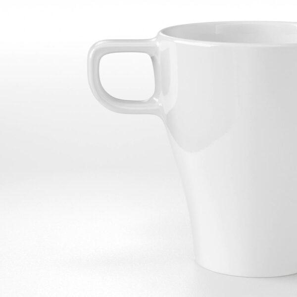 ФЭРГРИК Кружка, каменная керамика белый 25 сл - 504.978.80