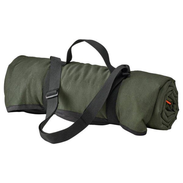 ФЬЕЛЛЬМОТТ Покрывало для пикника, насыщенный зеленый/черный 130x170 см - 104.933.89