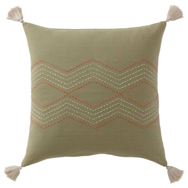 ХАЛЛВИ Чехол на подушку, ручная работа зеленый 50x50 см - 404.847.22