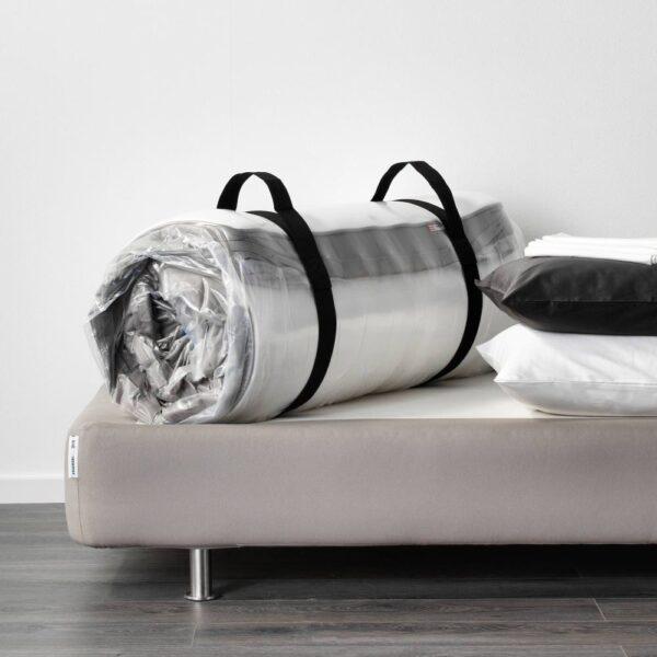 ХАВЁЙСУНД Матрас с пружинами карманного типа, жесткий/темно-бежевый 140x200 см - 505.085.67