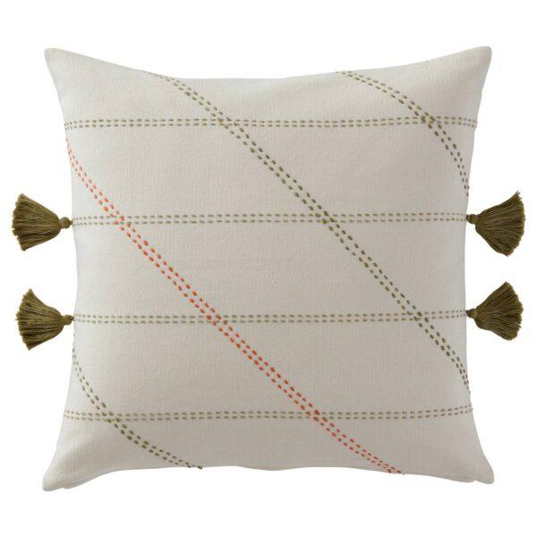 ГЕРВЭР Чехол на подушку, ручная работа белый с оттенком 50x50 см - 704.847.25