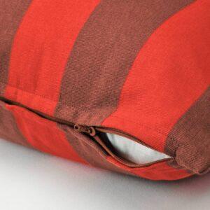 ХИЛЬДАМАРИЯ Чехол на подушку, оранжевый коричневый/в полоску 50x50 см - 404.957.73