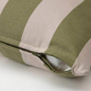 ХИЛЬДАМАРИЯ Чехол на подушку, зеленый неокрашенный/в полоску 50x50 см - 704.926.31