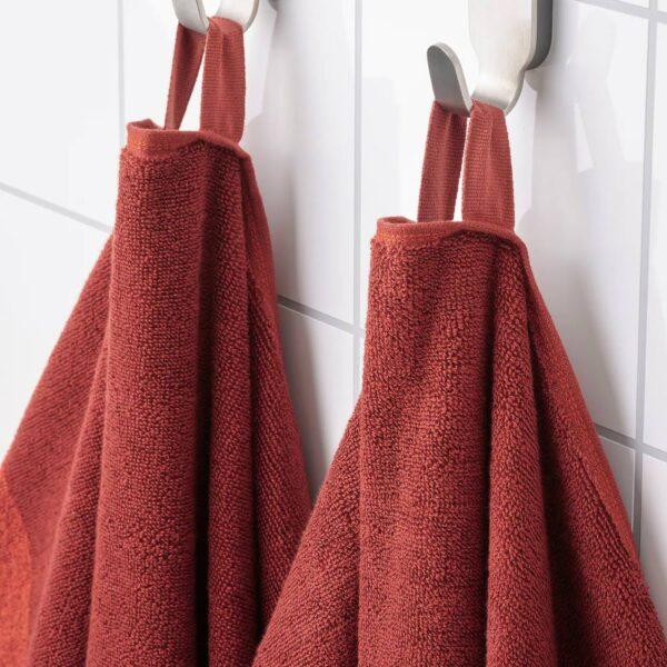 ХИМЛЕОН Простыня банная, коричнево-красный/меланж 100x150 см - 404.918.26