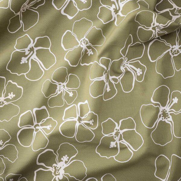 ИДАСАРА Ткань, зеленый неокрашенный/цветок 150 см - 104.901.21