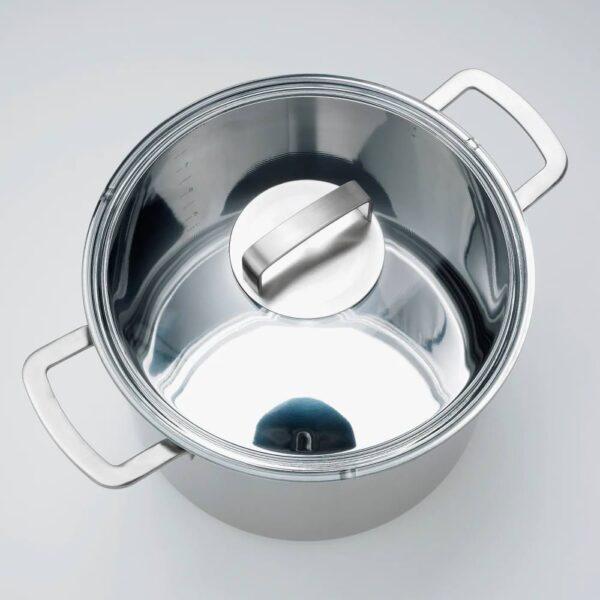 365+ ИКЕА/365+ Кастрюля с крышкой, нержавеющ сталь/стекло 10 л - 103.791.76