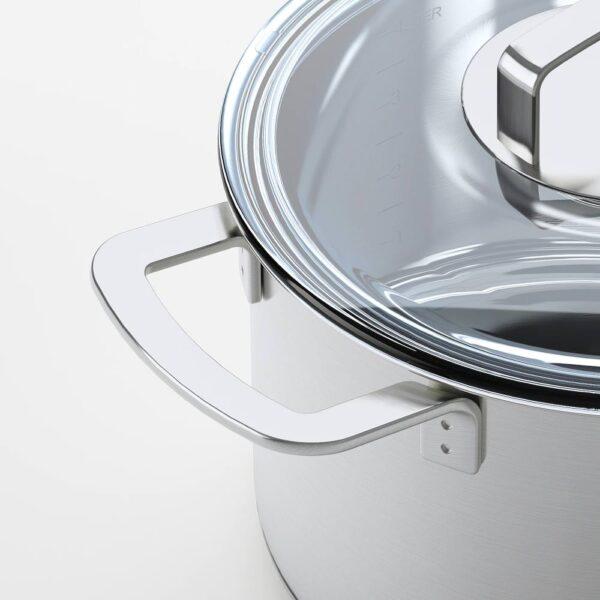 365+ ИКЕА/365+ Кастрюля с крышкой, нержавеющ сталь/стекло 5 л - 303.834.17