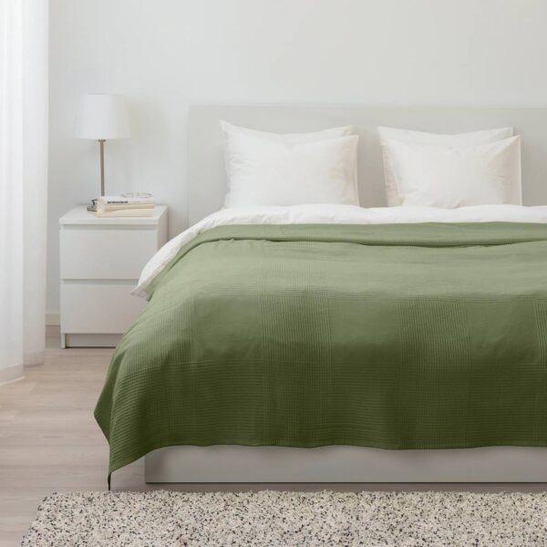 ИНДИРА Покрывало, темно-зеленый 230x250 см - 604.955.12