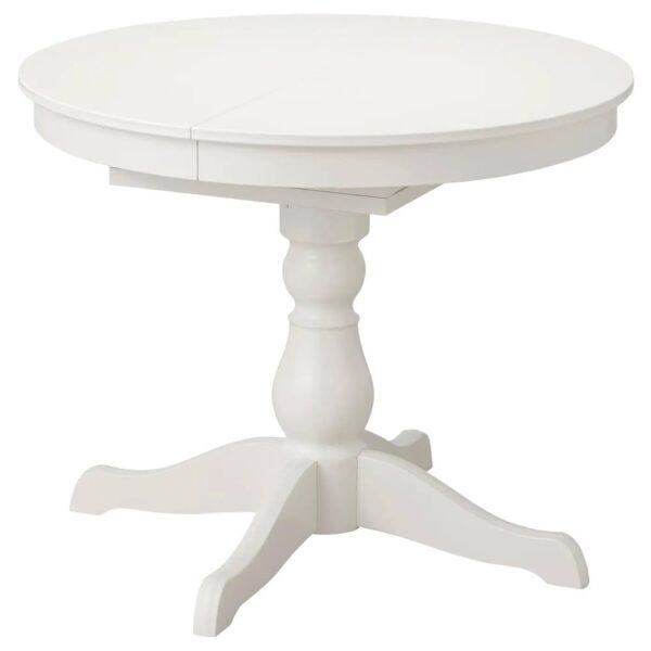 ИНГАТОРП Раздвижной стол, белый 90/125 см - 104.917.76