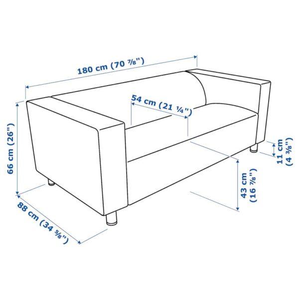 КЛИППАН 2-местный диван, Висле синий - 294.143.54