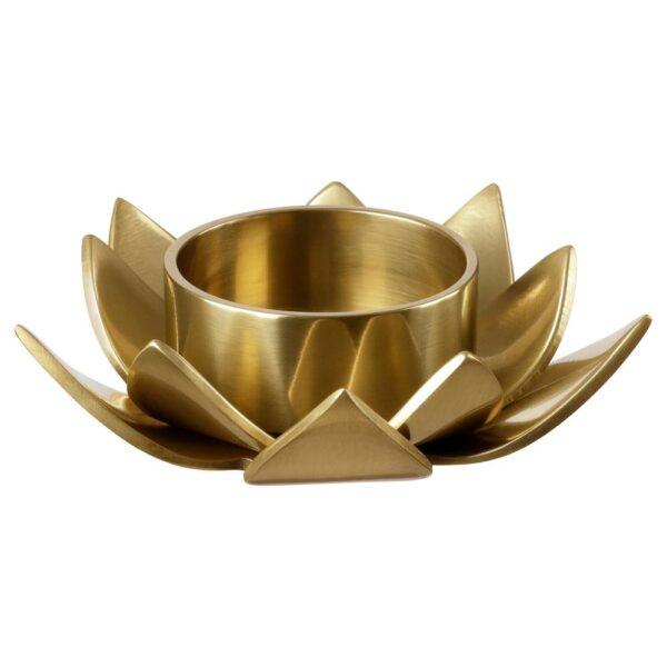 КНАСТРИГТ Подсвечник для греющей свечи, золотой/Лотос 3 см - 305.019.44