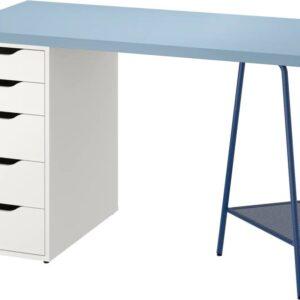 ЛАГКАПТЕН / АЛЕКС Письменный стол, синий/белый 120x60 см - 694.179.87