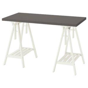ЛАГКАПТЕН / МИТТБАКК Письменный стол, темно-серый/белый 120x60 см - 494.164.94