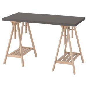 ЛАГКАПТЕН / МИТТБАКК Письменный стол, темно-серый/береза 120x60 см - 094.164.91