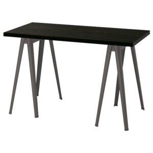 ЛАГКАПТЕН / НЭРСПЕЛЬ Письменный стол, черно-коричневый/темно-серый 120x60 см - 094.170.37