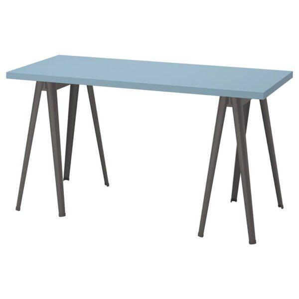 ЛАГКАПТЕН / НЭРСПЕЛЬ Письменный стол, голубой/темно-серый 140x60 см - 694.173.41