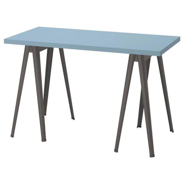 ЛАГКАПТЕН / НЭРСПЕЛЬ Письменный стол, голубой/темно-серый 120x60 см - 994.169.91
