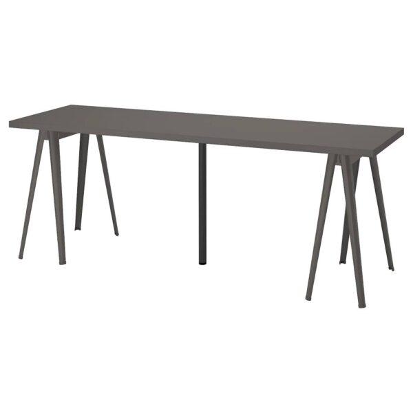 ЛАГКАПТЕН / НЭРСПЕЛЬ Письменный стол, темно-серый/черный 200x60 см - 194.202.61