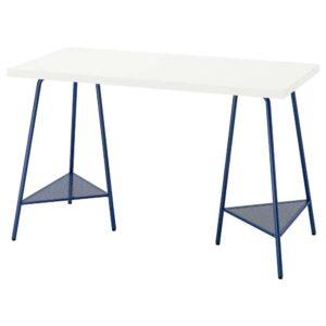 ЛАГКАПТЕН / ТИЛЛЬСЛАГ Письменный стол, белый/темно-синий 120x60 см - 094.168.01