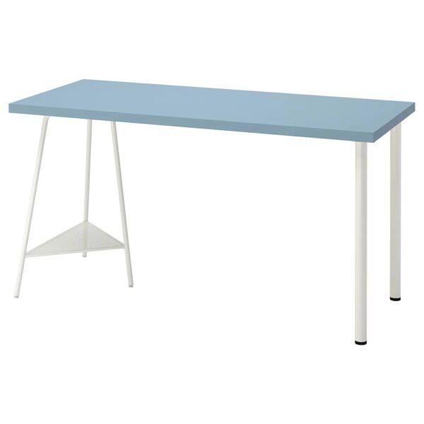 ЛАГКАПТЕН / ТИЛЛЬСЛАГ Письменный стол, голубой/белый 140x60 см - 494.172.76