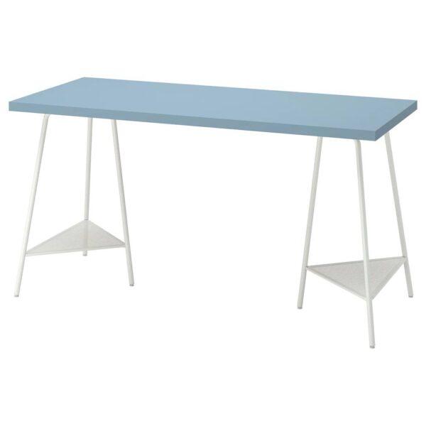ЛАГКАПТЕН / ТИЛЛЬСЛАГ Письменный стол, голубой/белый 140x60 см - 294.174.61