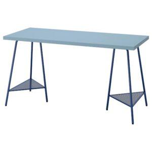 ЛАГКАПТЕН / ТИЛЛЬСЛАГ Письменный стол, голубой/темно-синий 140x60 см - 294.173.95