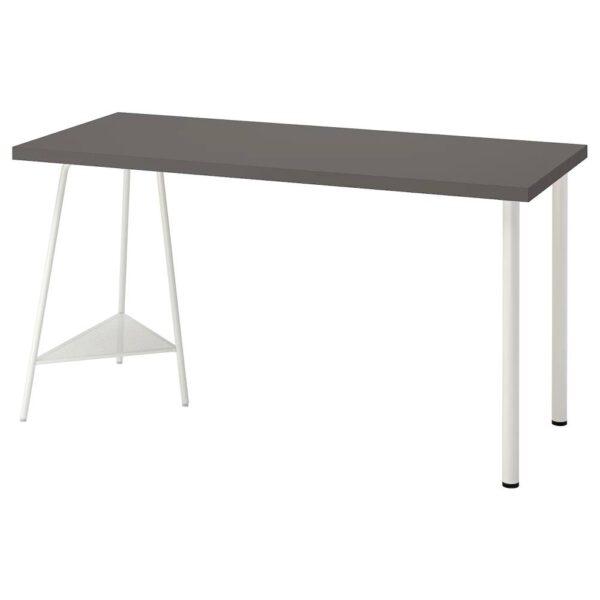 ЛАГКАПТЕН / ТИЛЛЬСЛАГ Письменный стол, темно-серый/белый 140x60 см - 594.171.05