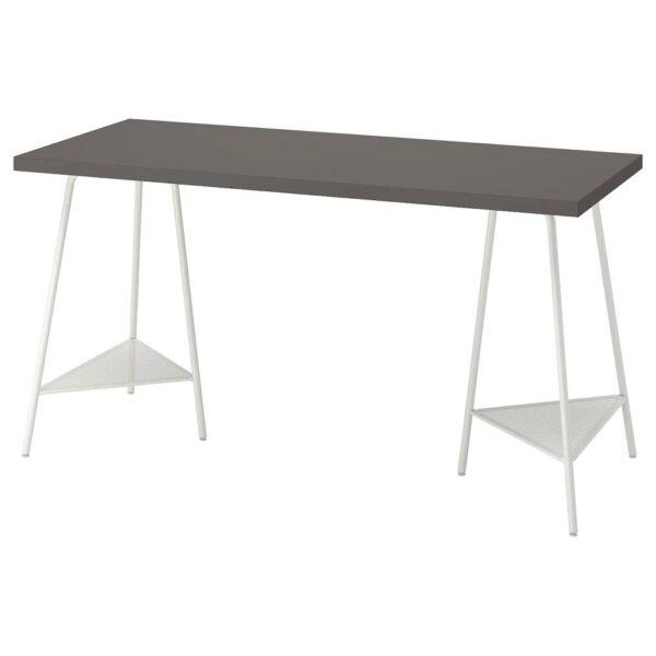 ЛАГКАПТЕН / ТИЛЛЬСЛАГ Письменный стол, темно-серый/белый 140x60 см - 894.171.37