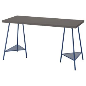 ЛАГКАПТЕН / ТИЛЛЬСЛАГ Письменный стол, темно-серый/темно-синий 140x60 см - 094.171.17