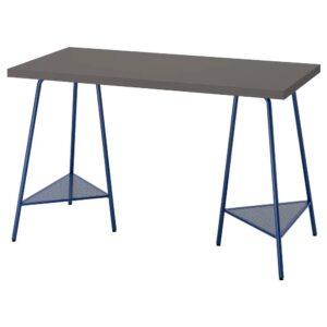 ЛАГКАПТЕН / ТИЛЛЬСЛАГ Письменный стол, темно-серый/темно-синий 120x60 см - 894.167.41