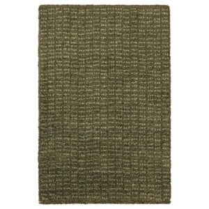 ЛАНГСТЕД Ковер, короткий ворс, темно-зеленый 60x90 см - 604.951.83