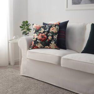 ЛЕЙКНИ Чехол на подушку, черный/разноцветный 40x40 см - 205.086.63