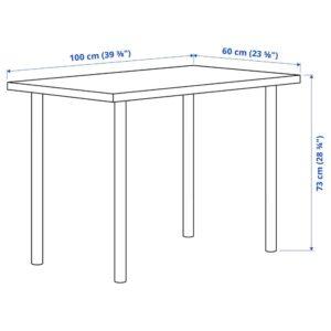 ЛИННМОН / АДИЛЬС Письменный стол, под беленый дуб/белый 100x60 см - 994.163.35