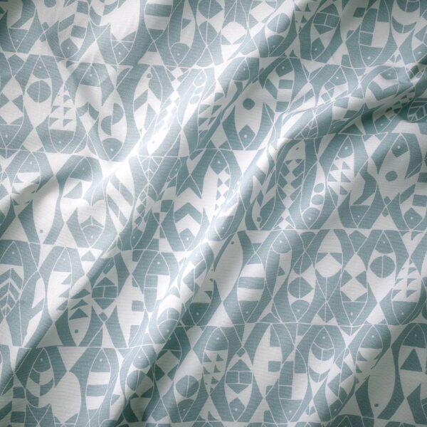 ЛОТТАЛИ Ткань, голубой/естественный 150 см - 304.901.20